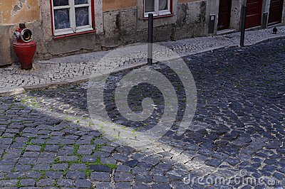 Ray of sunshine and cobblestone