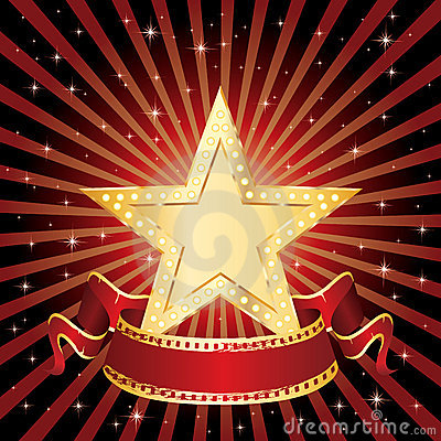 Rayos de la visualización de la estrella