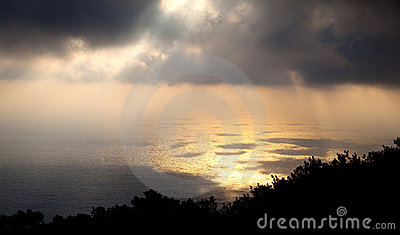 Rays Of Sunshine Through The Clouds, Pantelleria