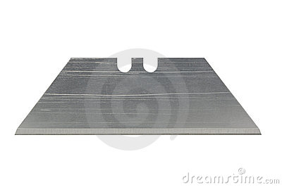 Razor blade on white with clipping path