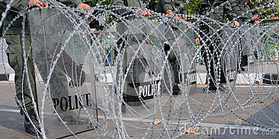 Razor Wire Road Block