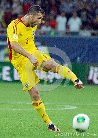 Razvan Rat in Romania-Turkey World Cup Qualifier Game Editorial Stock Photo