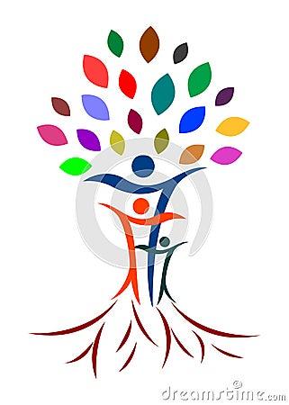 Árbol de familia abstracto