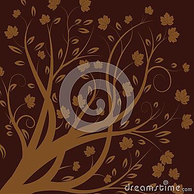 Árbol del otoño del vector