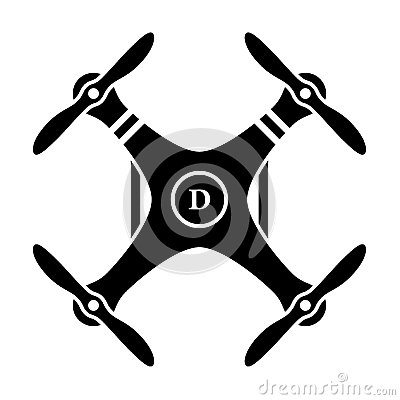 Free Rc Drone Quadcopter Black Symbol Royalty Free Stock Photography - 53534537