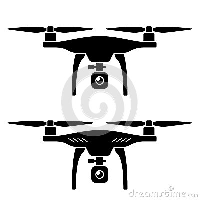Free Rc Drone Quadcopter With Camera Black Symbol Royalty Free Stock Photos - 53534618