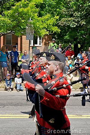 RCMP bagpipes Editorial Image