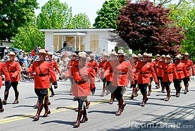 RCMP march Editorial Stock Image