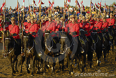 RCMP Riders Editorial Stock Photo