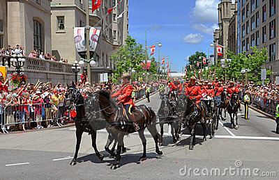 RCMP riding in Canada Day, Ottawa Editorial Photo