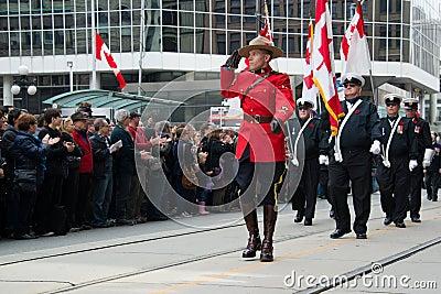 RCMP salutes Editorial Photo
