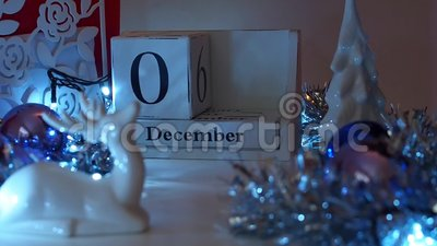 3rd December Date Blocks Advent Calendar stock footage