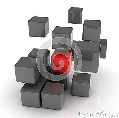 Röd kub