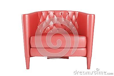 Läderfåtöljer : Röd läderfåtölj arkivfoto bild