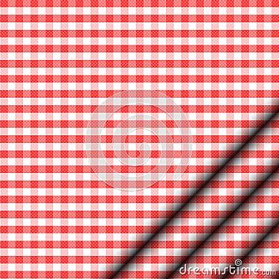 Röd tablecloth