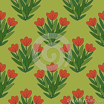 Röda blommor mönstrar