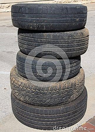 Räder des benutzten Autos