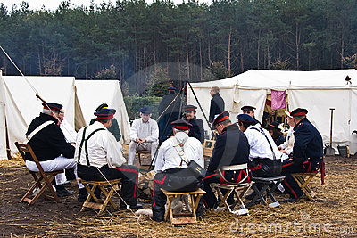 Re-enactment Austerlitz, the Netherlands 2008 Editorial Image