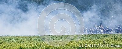 Re-enactment Battle of Waterloo, Belgium 2009 Editorial Stock Photo