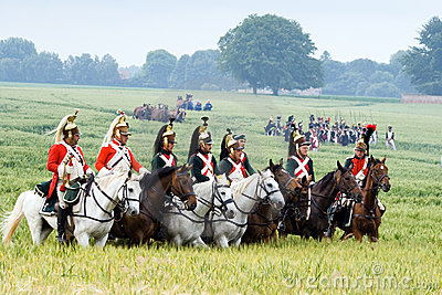 Re-enactment Battle of Waterloo, Belgium 2009 Editorial Photo