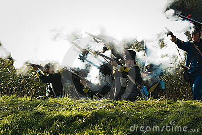 Re-enactment: Replay of Napoleonic period Editorial Photo