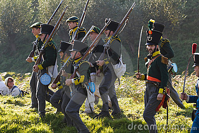 Re-enactment: Replay of Napoleonic period Editorial Image