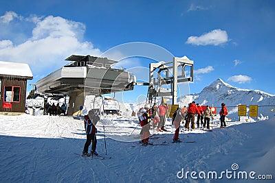 A área do esqui