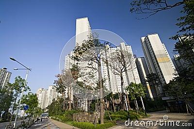 Área residencial en Seul