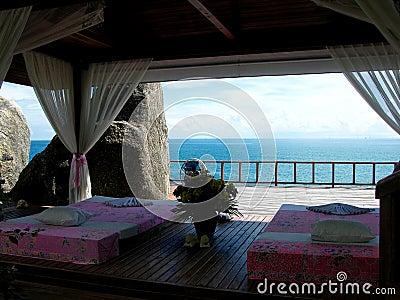Área tailandesa da massagem