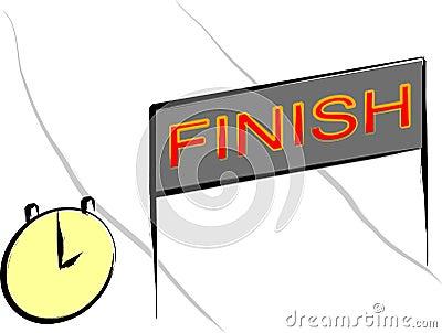 Reaching finish line