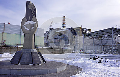 Reactor #4 and the Chernobyl Monument