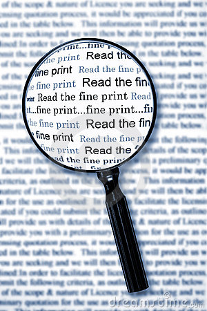 Free Read The Fine Print Royalty Free Stock Images - 9451789