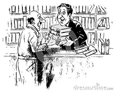 Bookshop Cartoon Stock Illustrations – 109 Bookshop Cartoon Stock ...