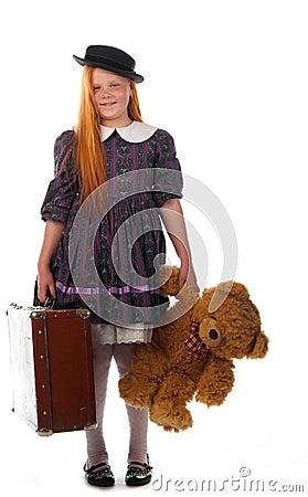 Readhead girl is ready to travel