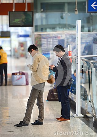 Free Reading At Subway Station Stock Photos - 108612553