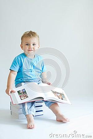 Reading baby