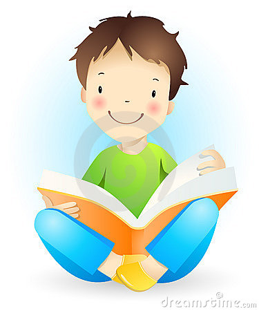 Reading boy.