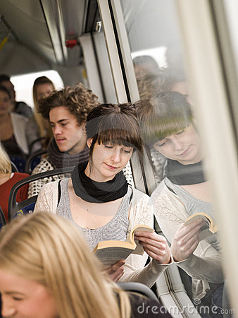 Reading at the bus