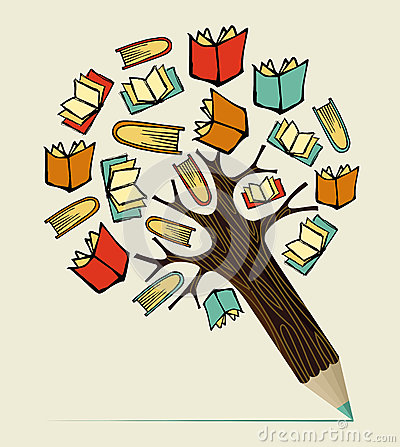 Free Reading Education Concept Pencil Tree Stock Photography - 32017702