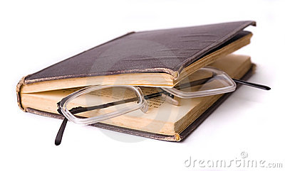 Reading - glasses in a book