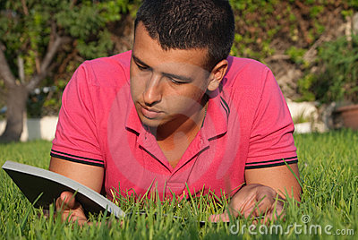 Reading in the grass