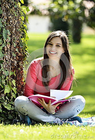 Free Reading In Nature Is My Hobby Stock Photography - 40869482