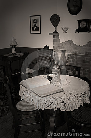 Reading by Lantern Light