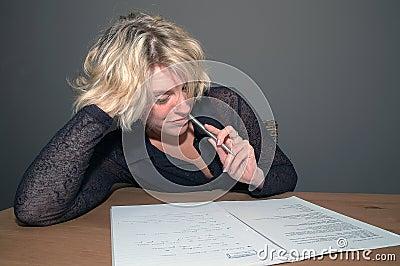 Reading paperwork