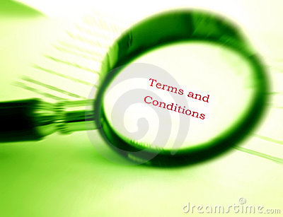 Reading terms and conditions
