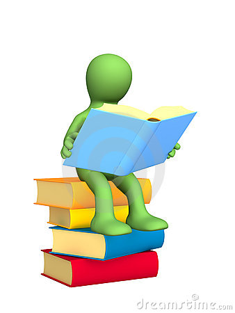Free Reading The Book 3d Puppet Royalty Free Stock Images - 4612079
