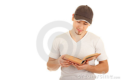 Reading young man