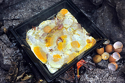Ready for breakfast eggs at the tray