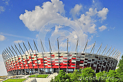Ready for EURO 2012, National Stadium, Warsaw. Editorial Photo