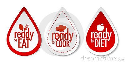 Ready to eat, diet and cook stickers